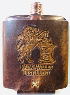 Logo Flasks Mahogany - Leather Wrapped Image