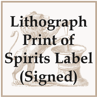 Misc - Print - Signed Spirit Label Lithograph