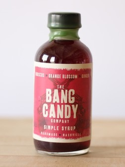 Bang Candy - Hibiscus Orange Blossom Ginger Syrup